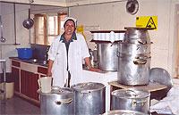 Kochen für 60 Kinder -KInderheim in San-Pablo Chile